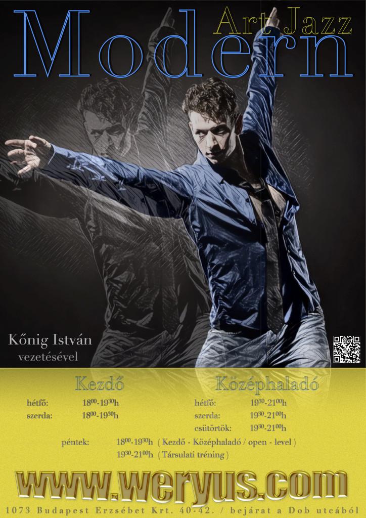 Modern plakát Kőnig István táncos min
